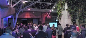 Busy networking with crowdfunders in London UK